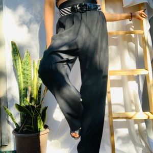 VINTAGE// Black High Waisted Trousers